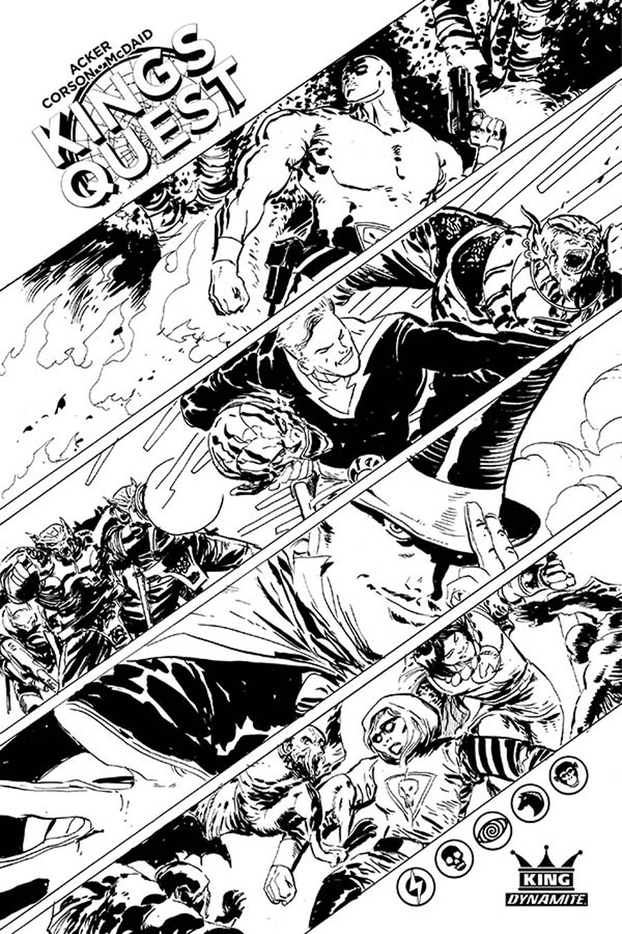Kings Quest #1 Cover F Incentive Dan McDaid Black & White Cover
