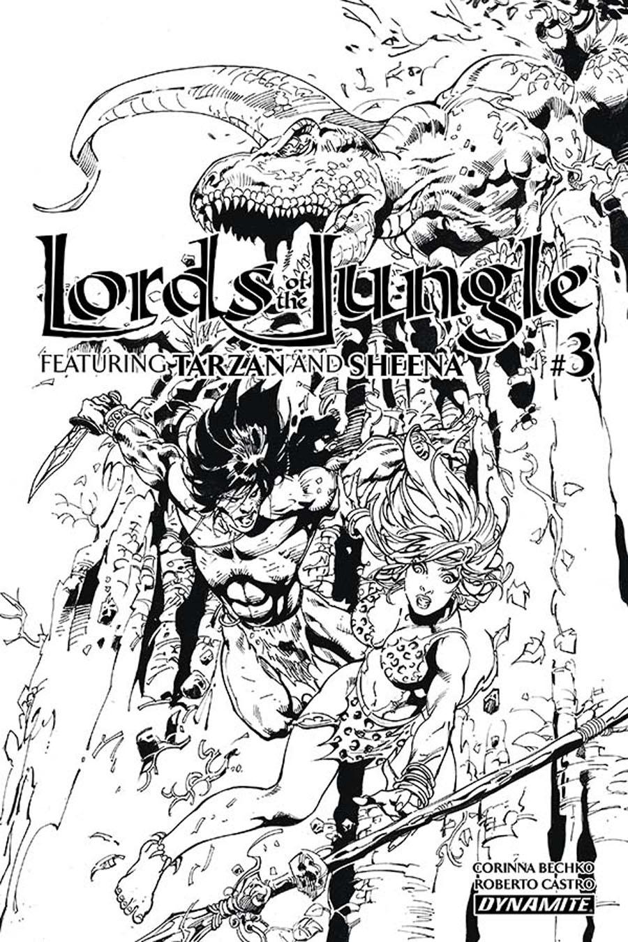Lords Of The Jungle #3 Cover C Incentive Roberto Castro Black & White Cover