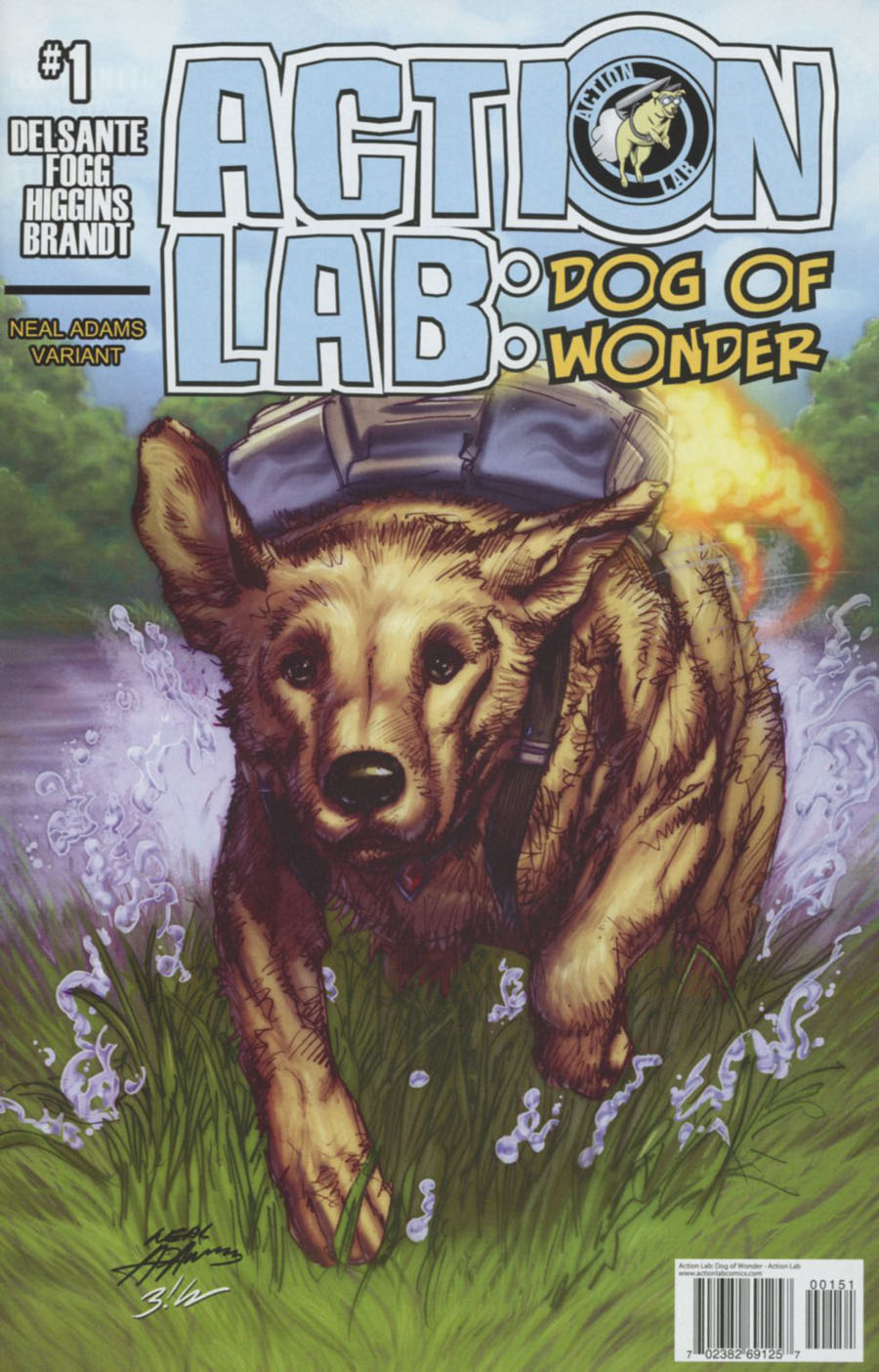 Action Lab Dog Of Wonder #1 Cover D Incentive Neal Adams Color Variant Cover