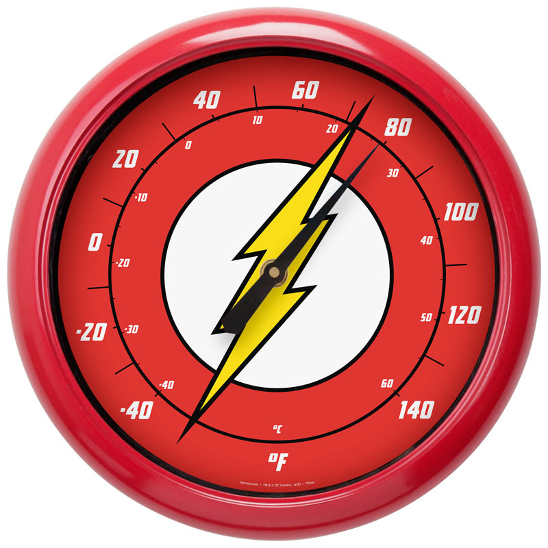 DC Comics 10-Inch Indoor Outdoor Thermometer - Flash Logo