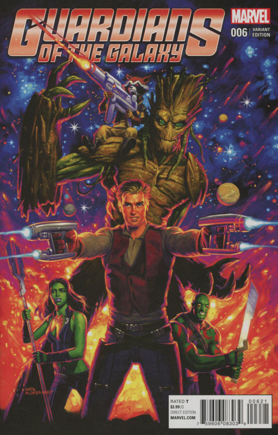 Guardians Of The Galaxy Vol 4 #6 Cover E Incentive Greg Hildebrandt Classic Variant Cover