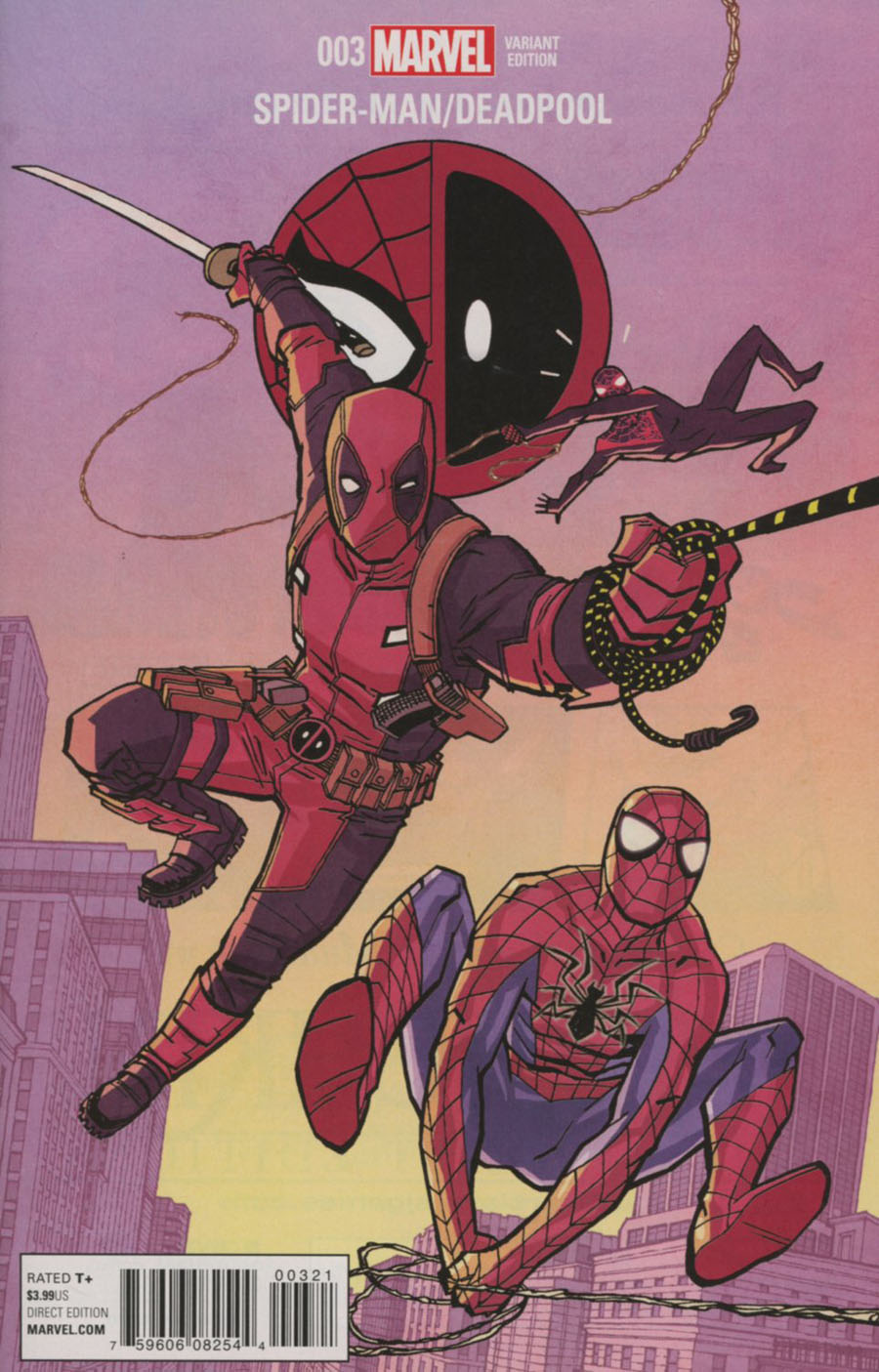 Spider-Man Deadpool #3 Cover B Incentive Cliff Chiang Variant Cover