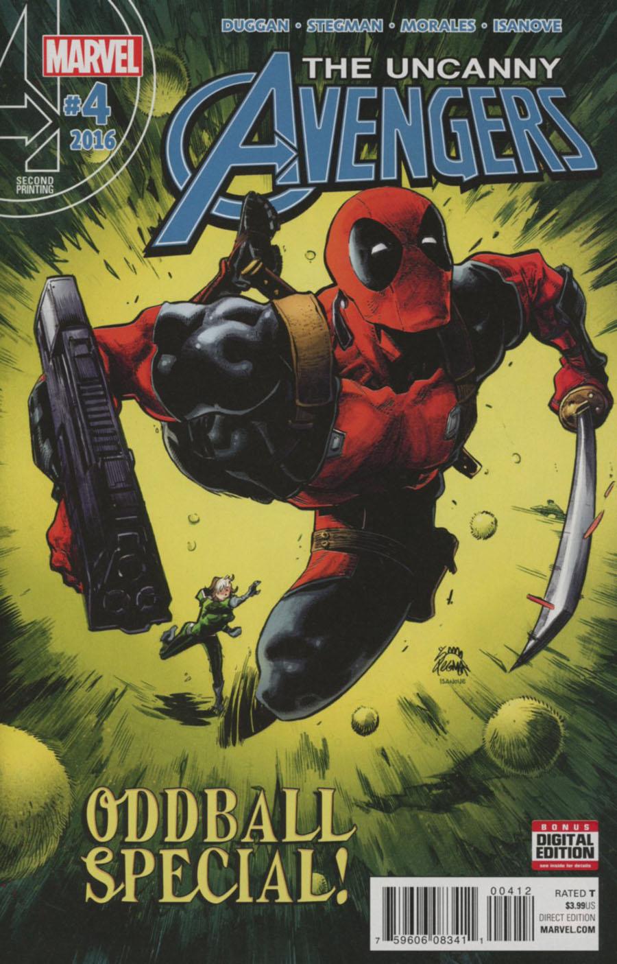 Uncanny Avengers Vol 3 #4 Cover C 2nd Ptg Ryan Stegman Variant Cover
