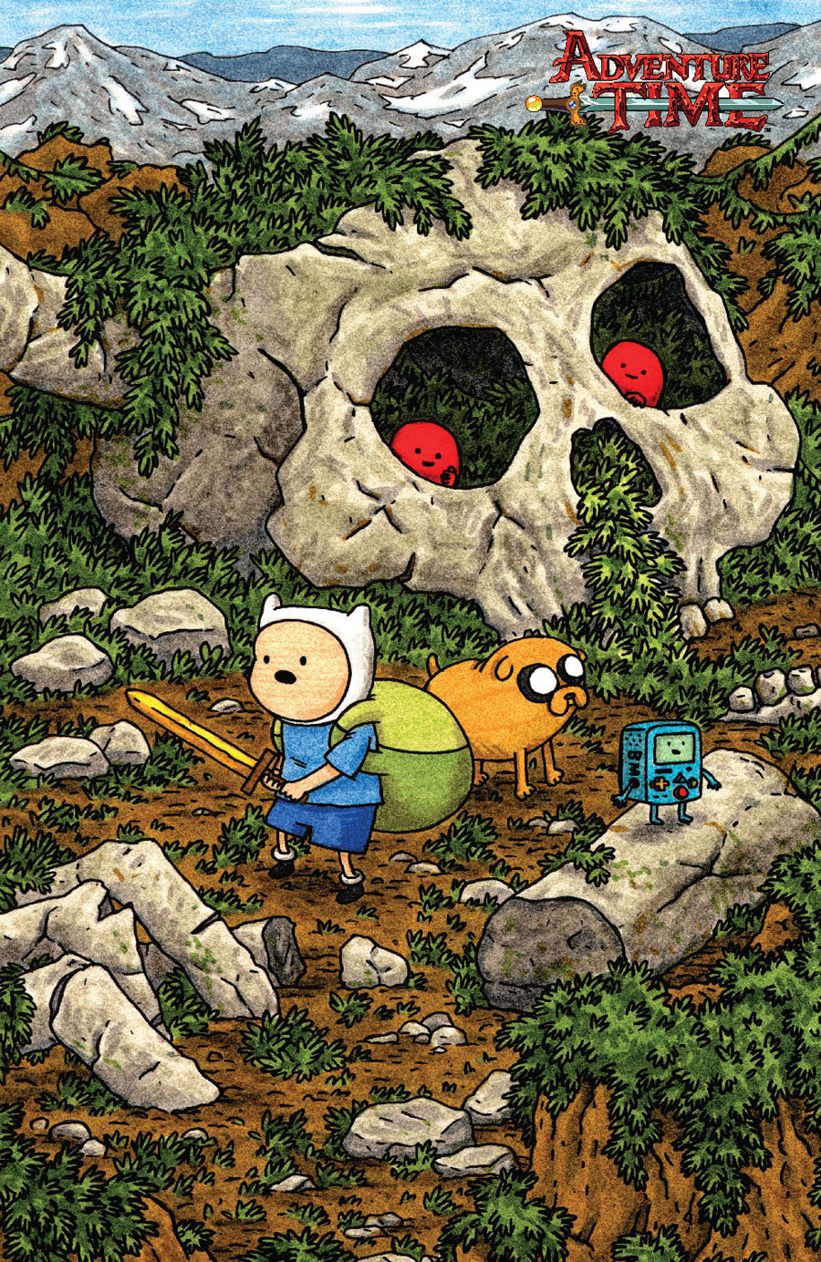 Adventure Time #50 Cover D Incentive Jeffrey Brown Virgin Variant Cover
