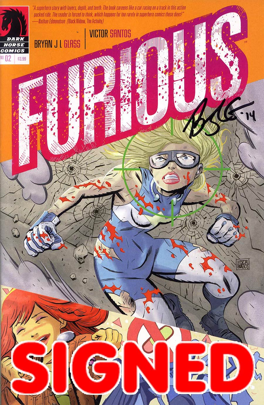 Furious #2 Cover B Signed by Bryan J.L. Glass