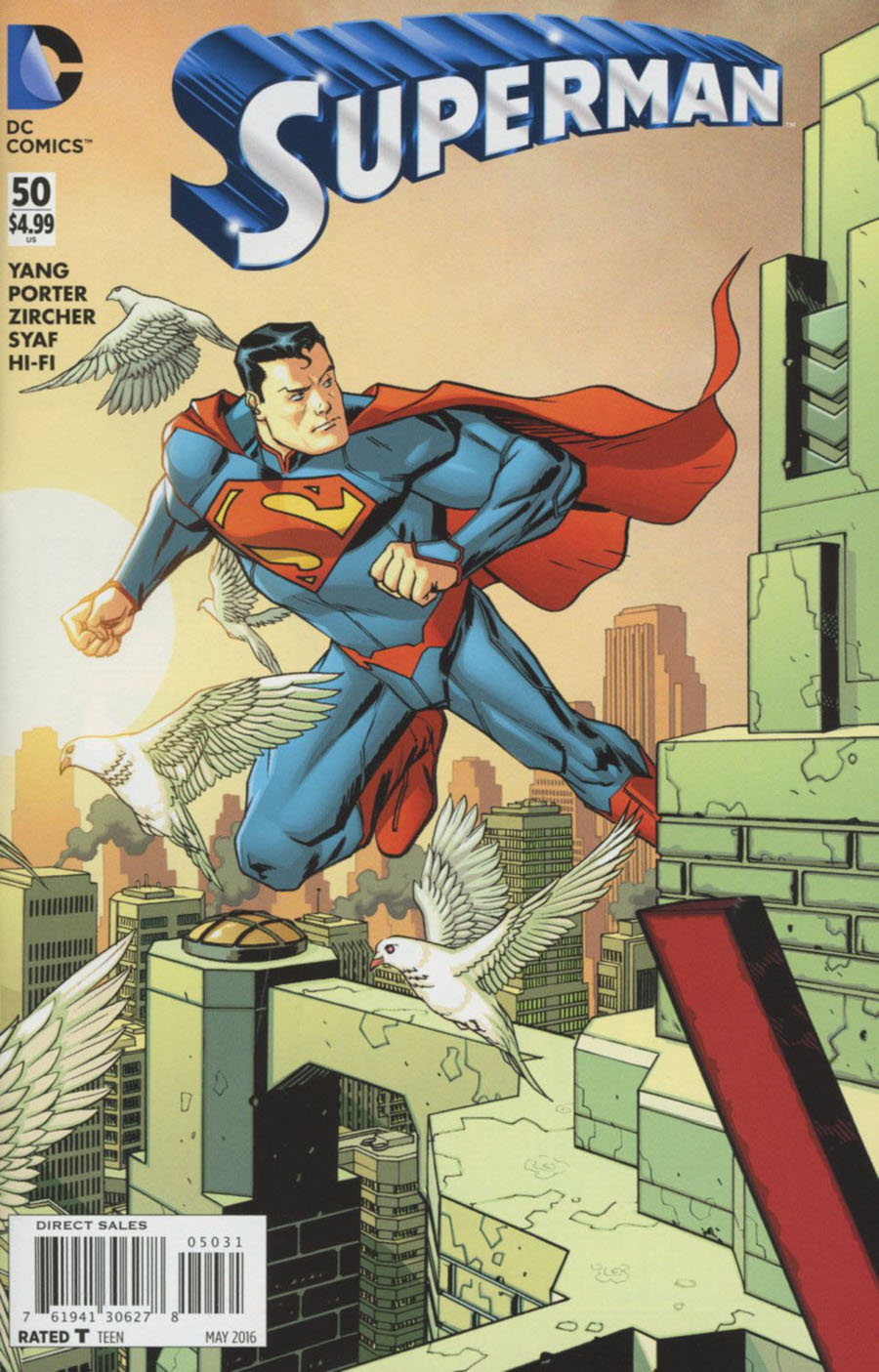 Superman Vol 4 #50 Cover D Incentive Dave Johnson Connecting Variant Cover