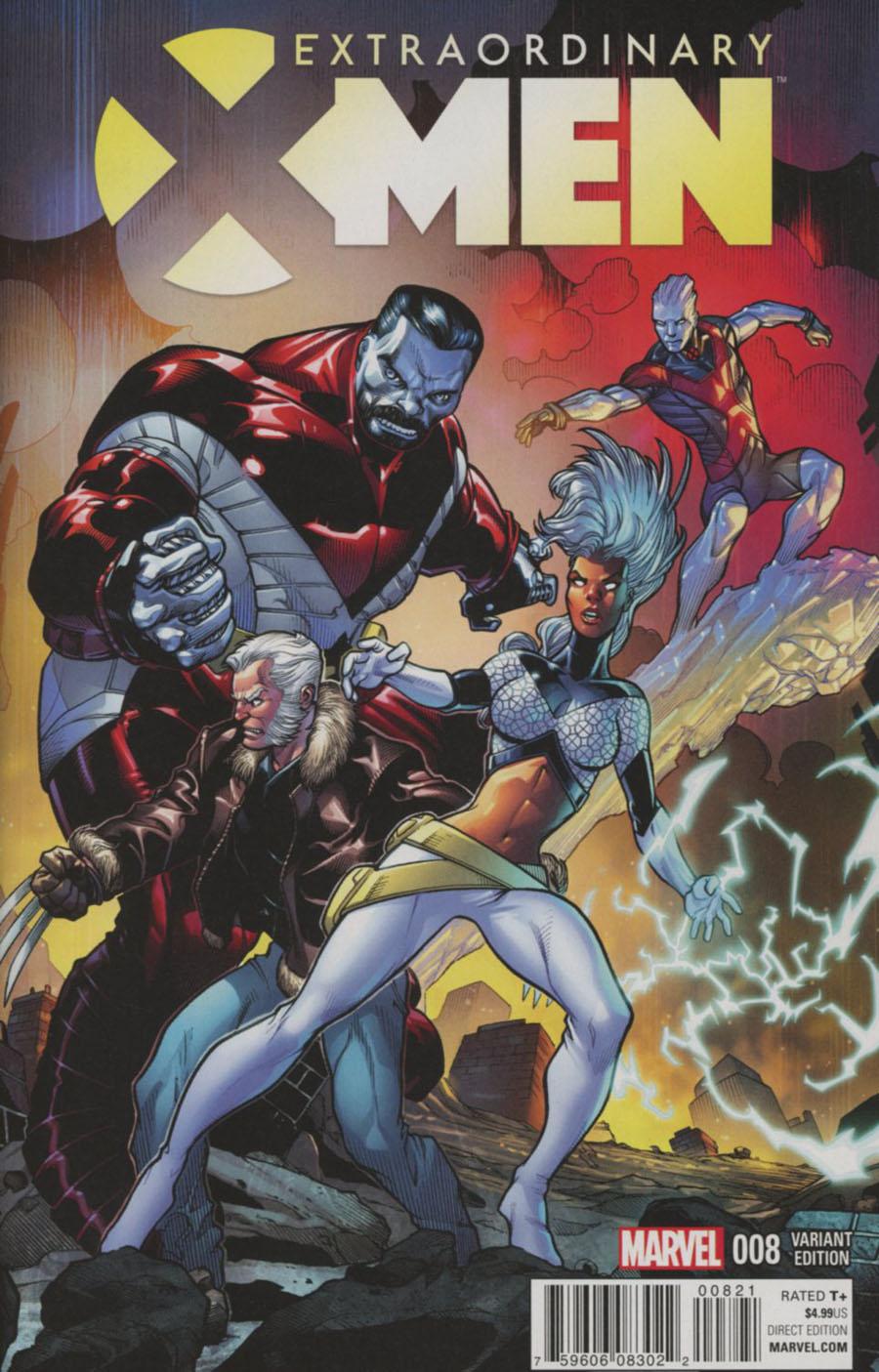 Extraordinary X-Men #8 Cover E Incentive Larry Stroman Classic Variant Cover (X-Men Apocalypse Wars Tie-In)
