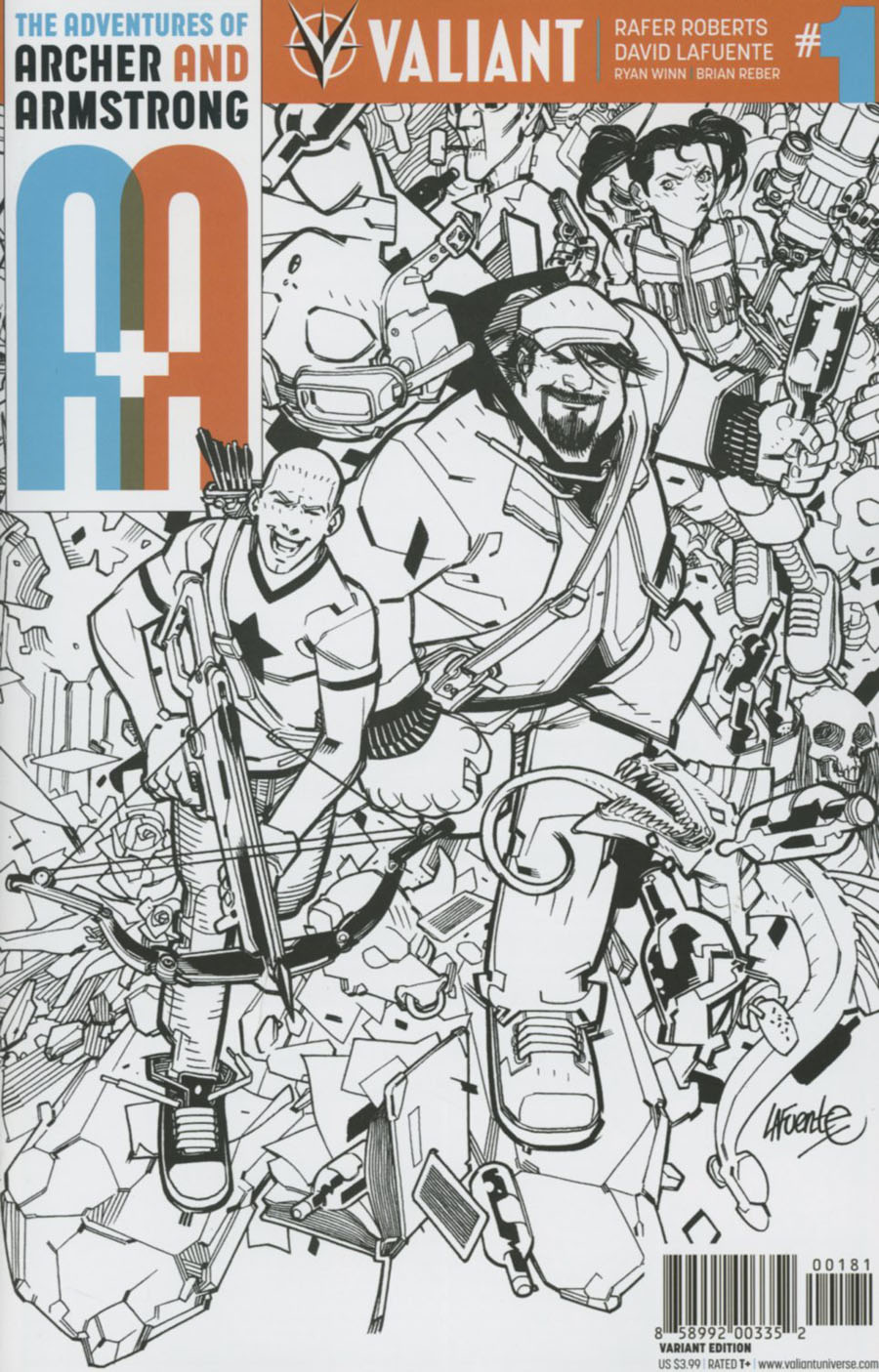 A&A #1 Cover H Incentive David LaFuente Black & White Cover