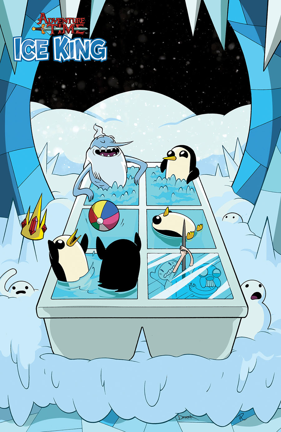 Adventure Time Ice King #3 Cover C Incentive Katie ONeill Virgin Variant Cover
