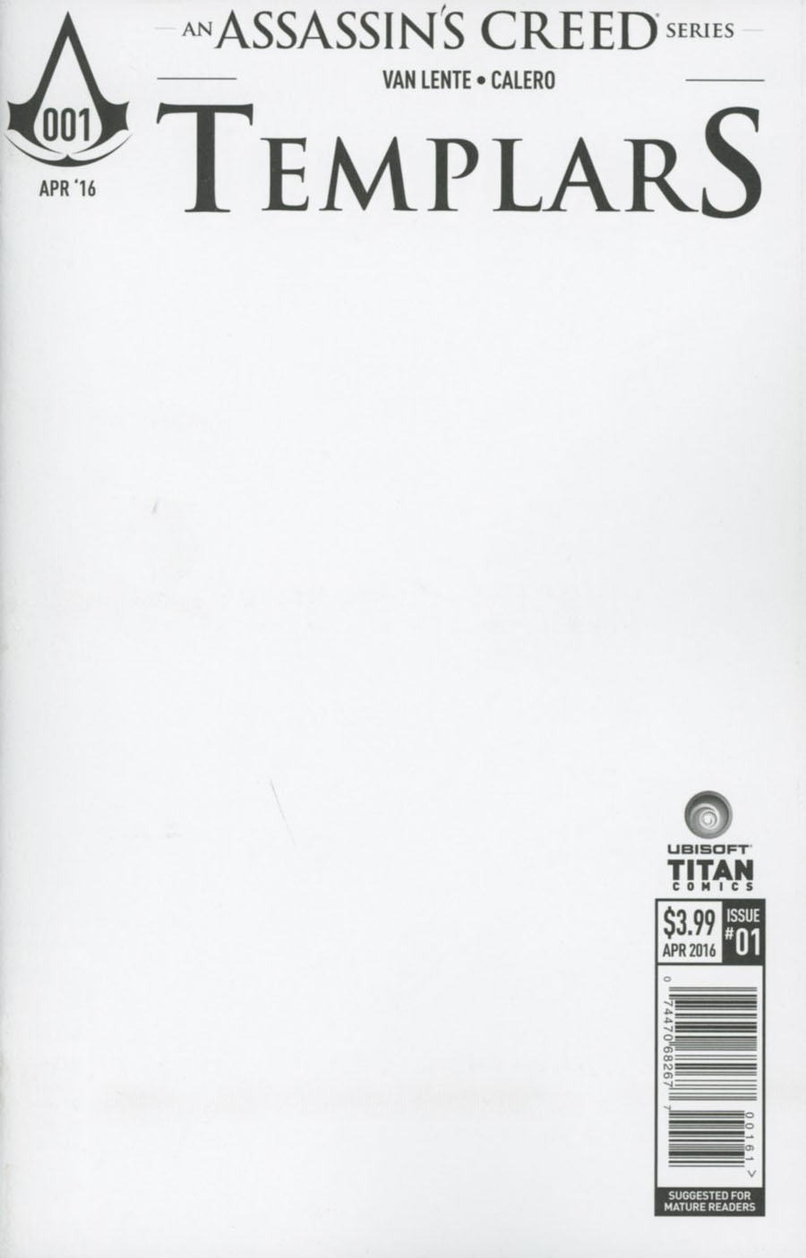 Assassins Creed Templars #1 Cover F Variant Blank Cover