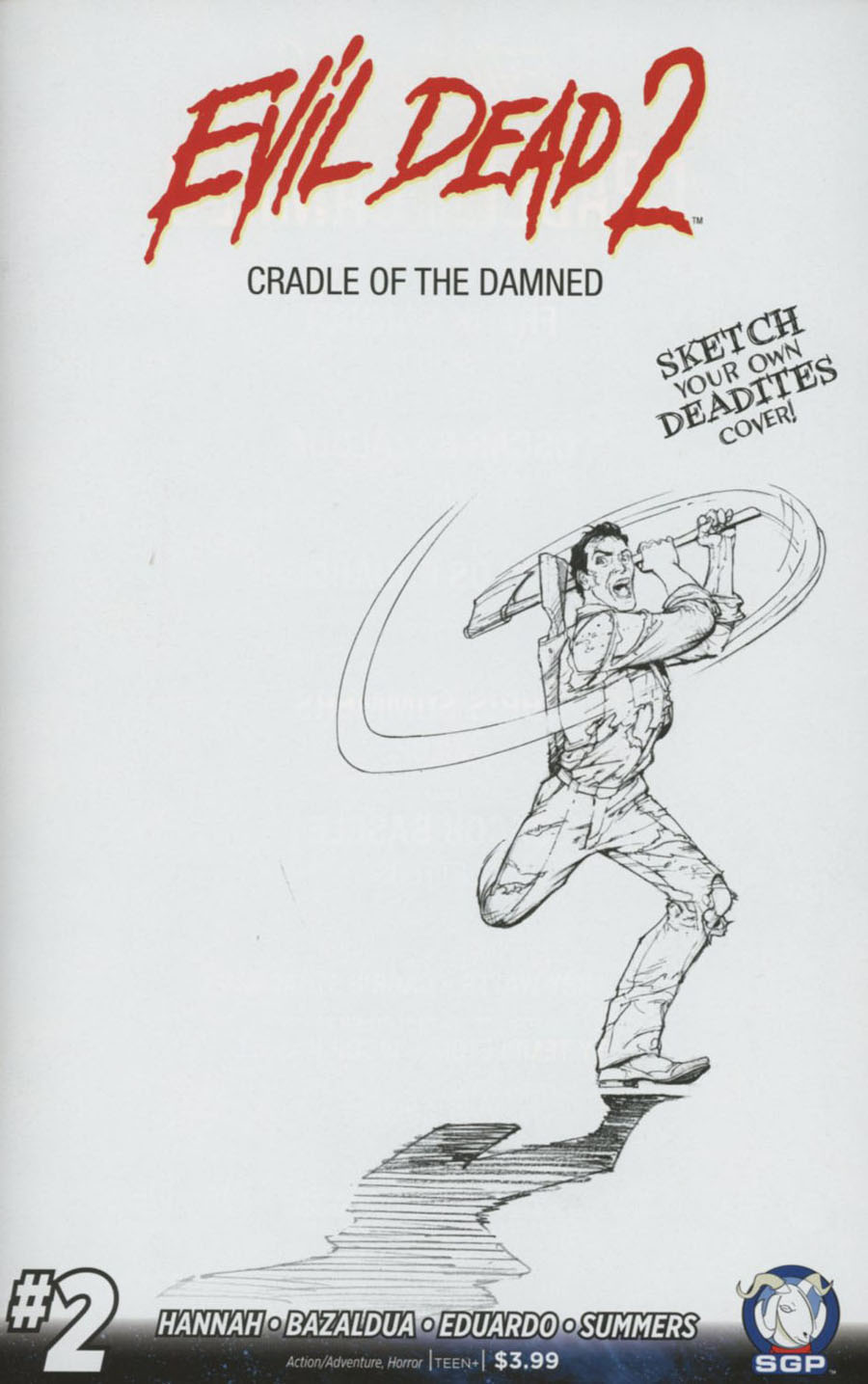 Evil Dead 2 Cradle Of The Damned #2 Cover C Incentive Blank Sketch Variant Cover