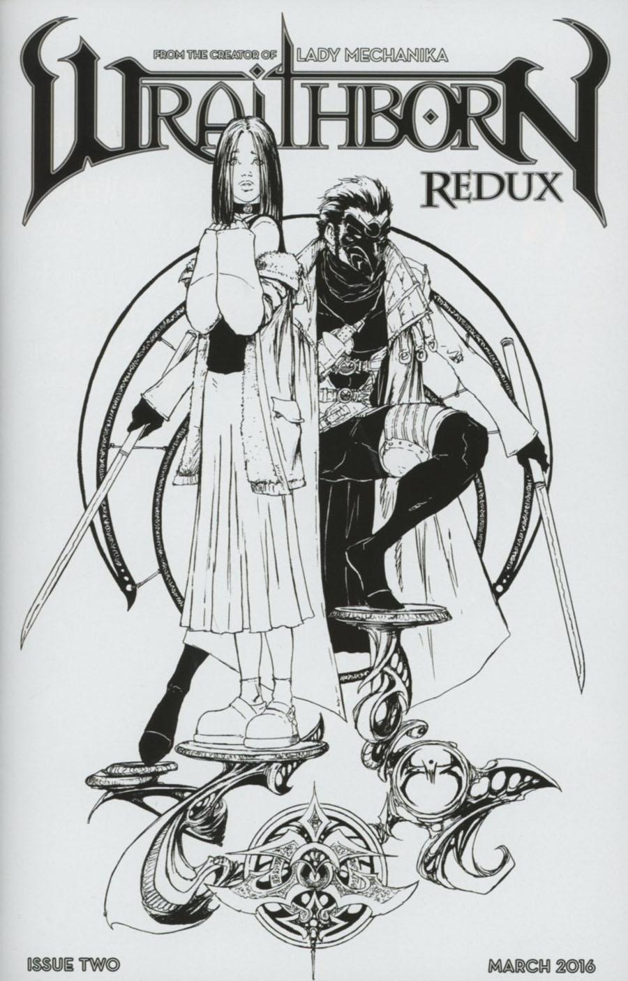 Wraithborn Redux #2 Cover C Incentive Joe Benitez Sketch Cover