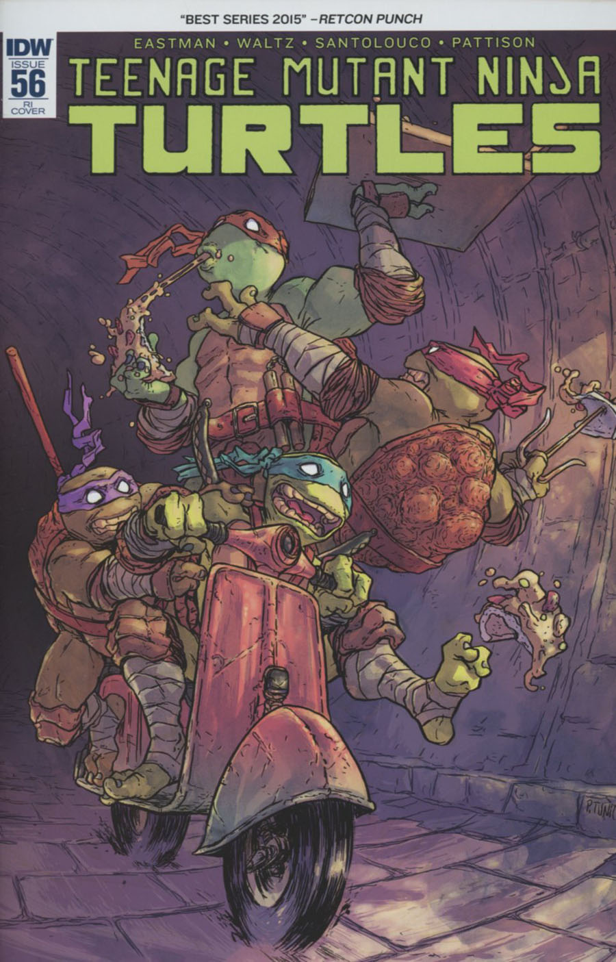 Teenage Mutant Ninja Turtles Vol 5 #56 Cover C Incentive Pablo Tunica Variant Cover