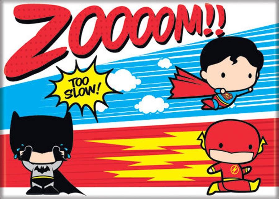 DC Comics 2.5x3.5-inch Magnet Chibi - Superman Batman Flash Zoom (72029DC)