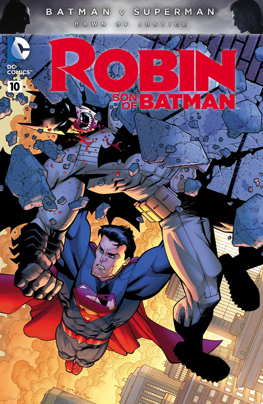 Robin Son Of Batman #10 Cover C Variant Ryan Ottley Batman v Superman Dawn Of Justice Color Cover Without Polybag
