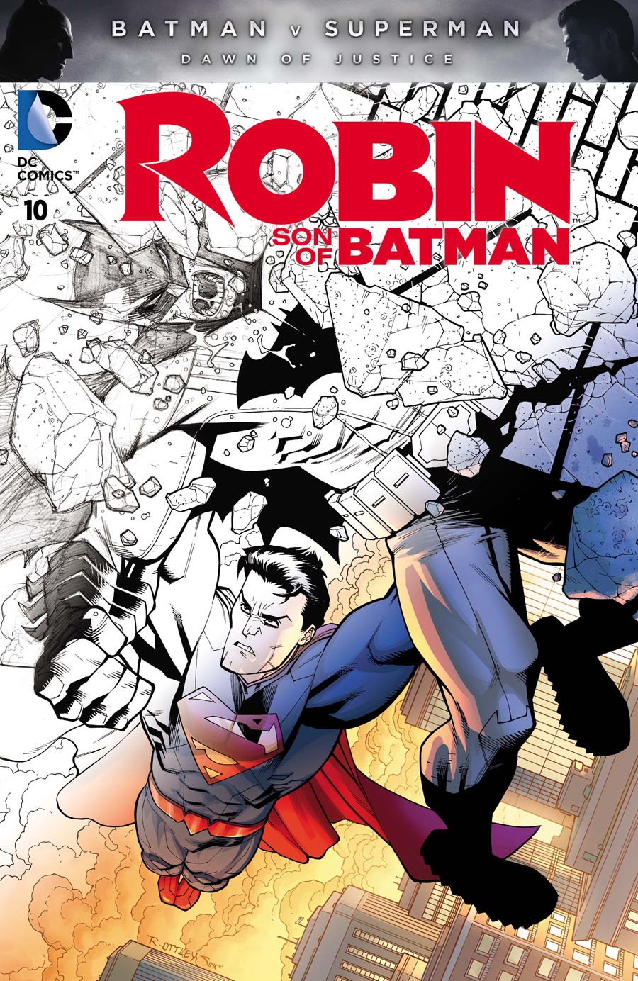 Robin Son Of Batman #10 Cover D Variant Ryan Ottley Batman v Superman Dawn Of Justice Fade Cover Without Polybag