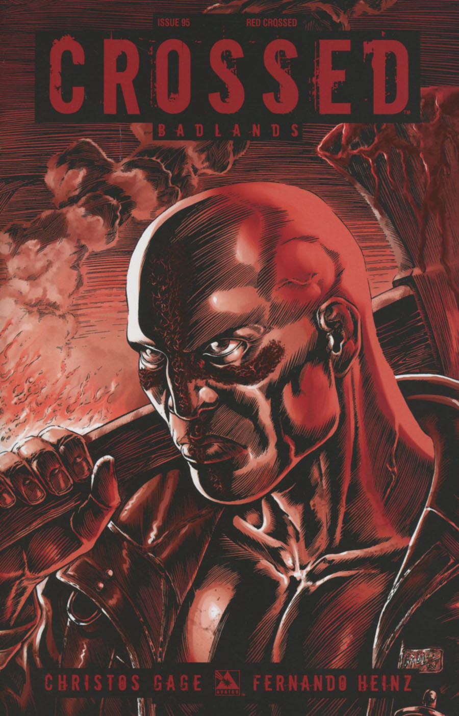 Crossed Badlands #95 Cover F Incentive Red Crossed Edition