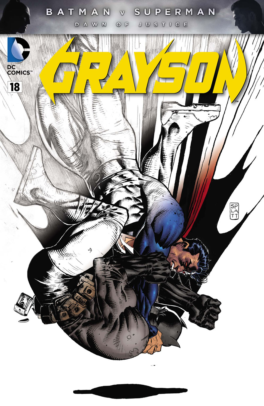 Grayson #18 Cover D Variant Stephen Platt Batman v Superman Dawn Of Justice Fade Cover Without Polybag