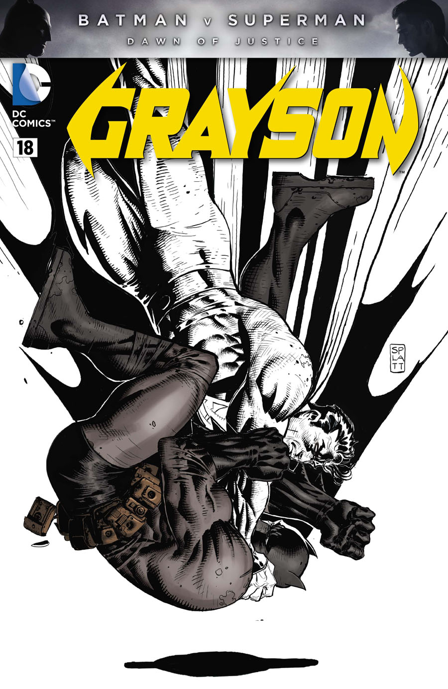 Grayson #18 Cover E Variant Stephen Platt Batman v Superman Dawn Of Justice Character Cover Without Polybag