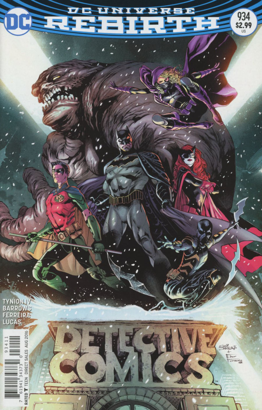 Detective Comics Vol 2 #934 Cover A 1st Ptg Regular Eddy Barrows & Eber Ferreira Cover