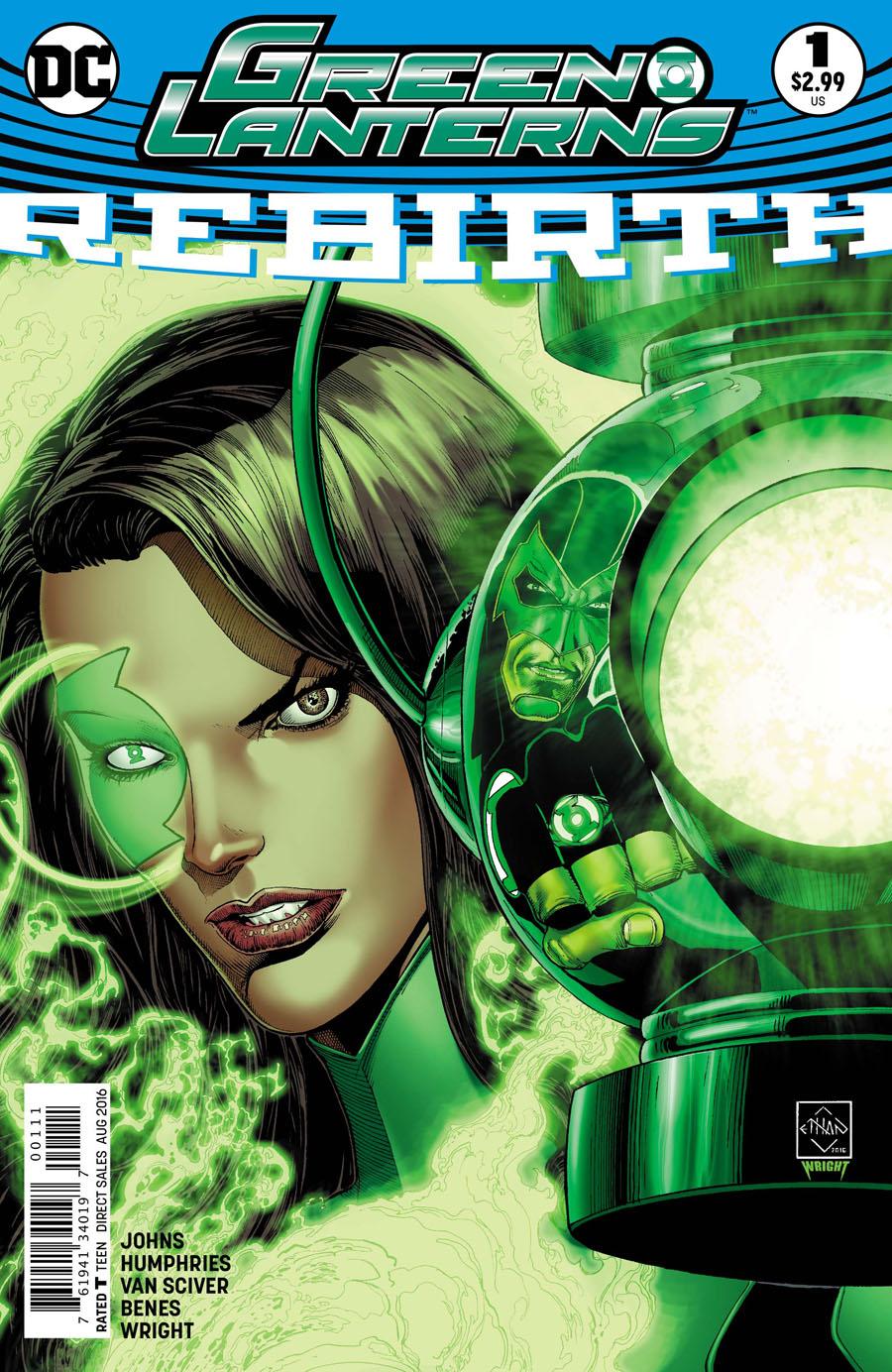 Green Lanterns Rebirth #1 Cover A 1st Ptg Regular Ethan Van Sciver Cover