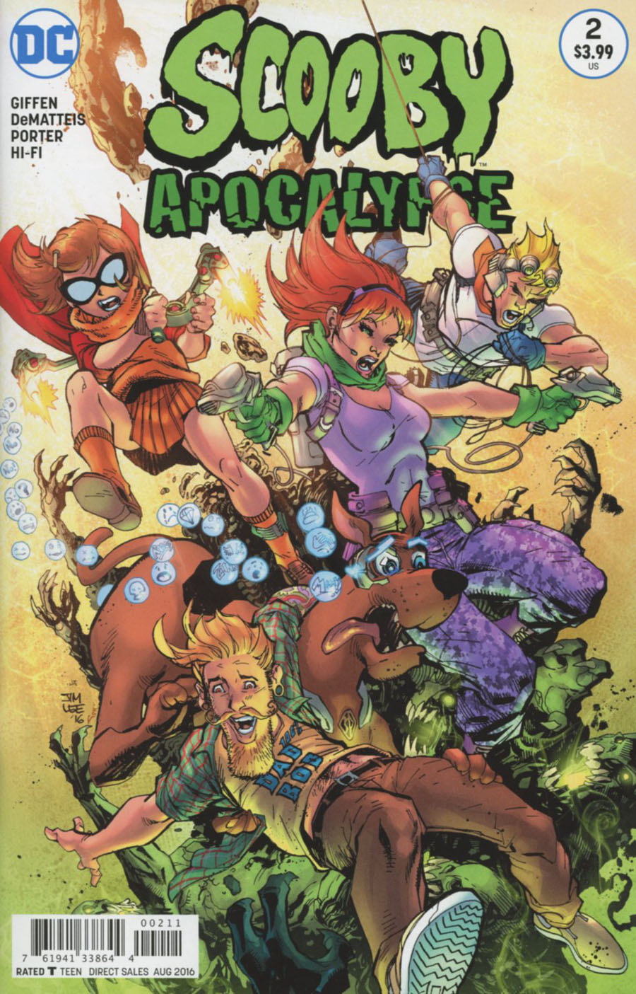 Scooby Apocalypse #2 Cover A 1st Ptg Regular Jim Lee Cover