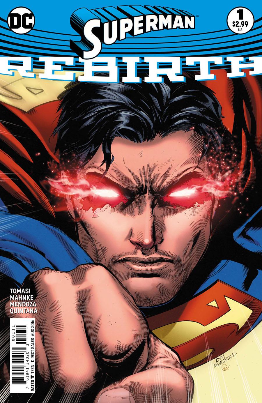 Superman Rebirth #1 Cover A 1st Ptg Regular Doug Mahnke Cover