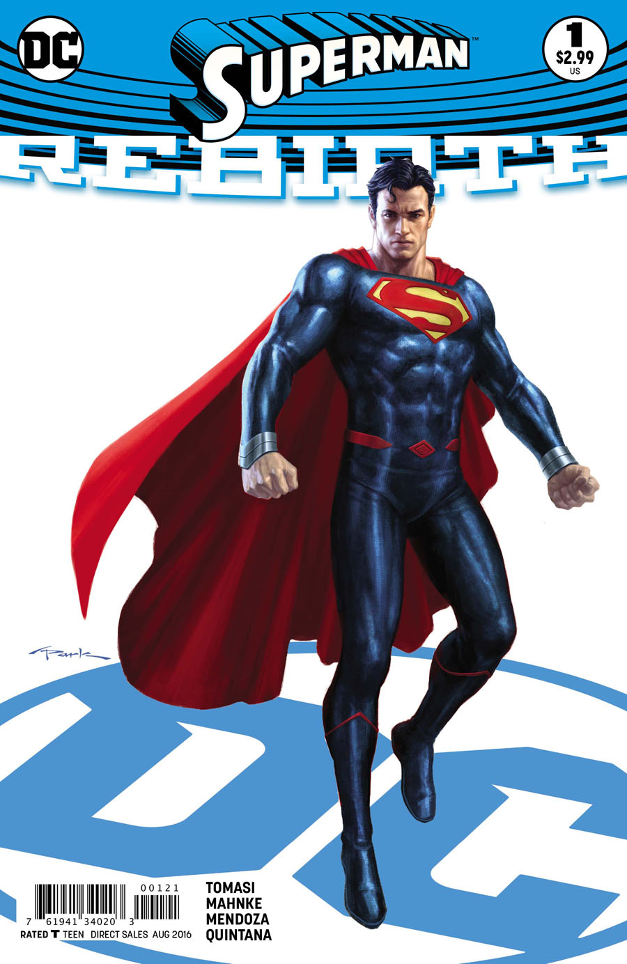 Superman Rebirth #1 Cover B Variant Andy Park Cover