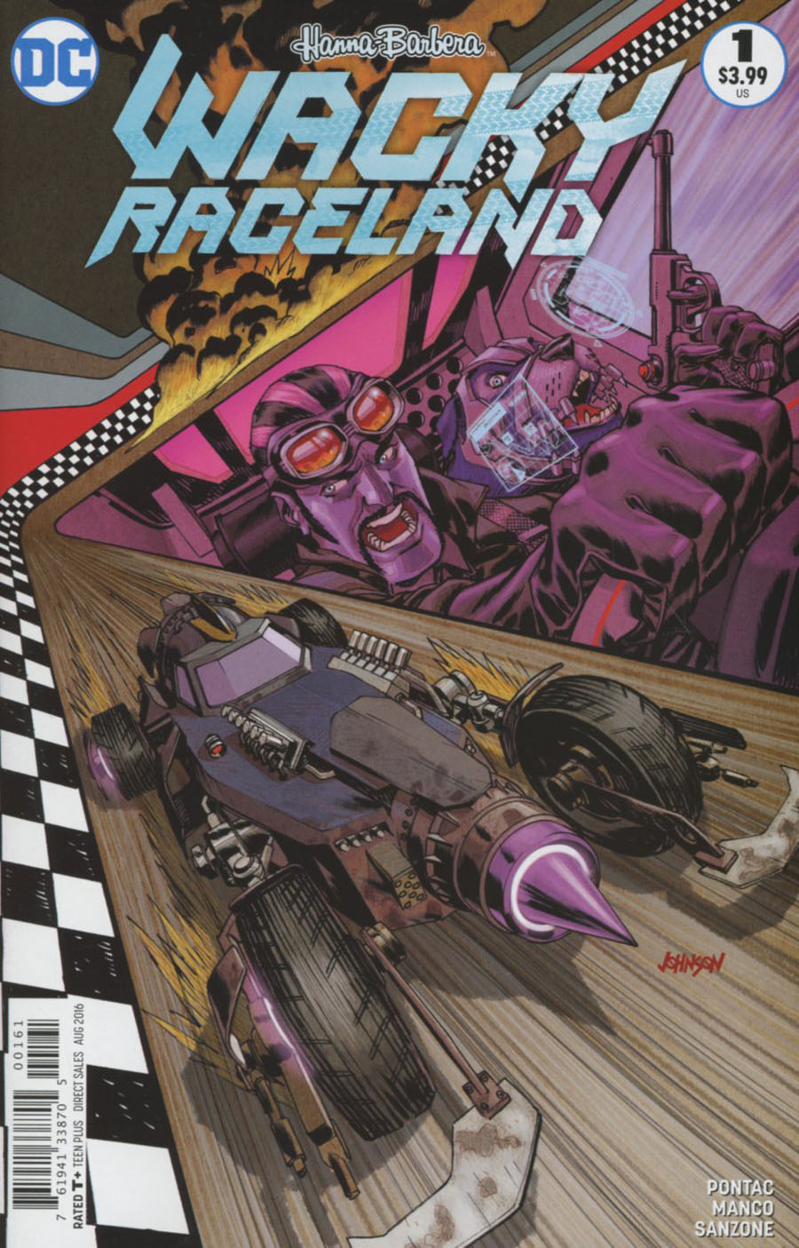 Wacky Raceland #1 Cover D Variant Dave Johnson Dick Dastardly Cover