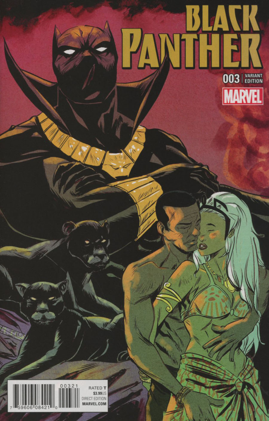 Black Panther Vol 6 #3 Cover B Variant Sanford Greene Connecting C Cover