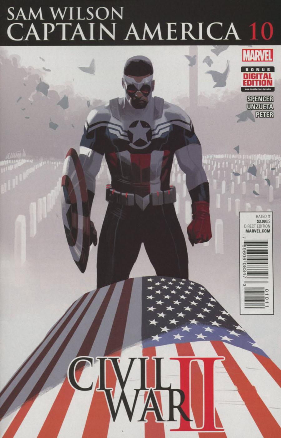 Captain America Sam Wilson #10 Cover A Regular Daniel Acuna Cover (Civil War II Tie-In)