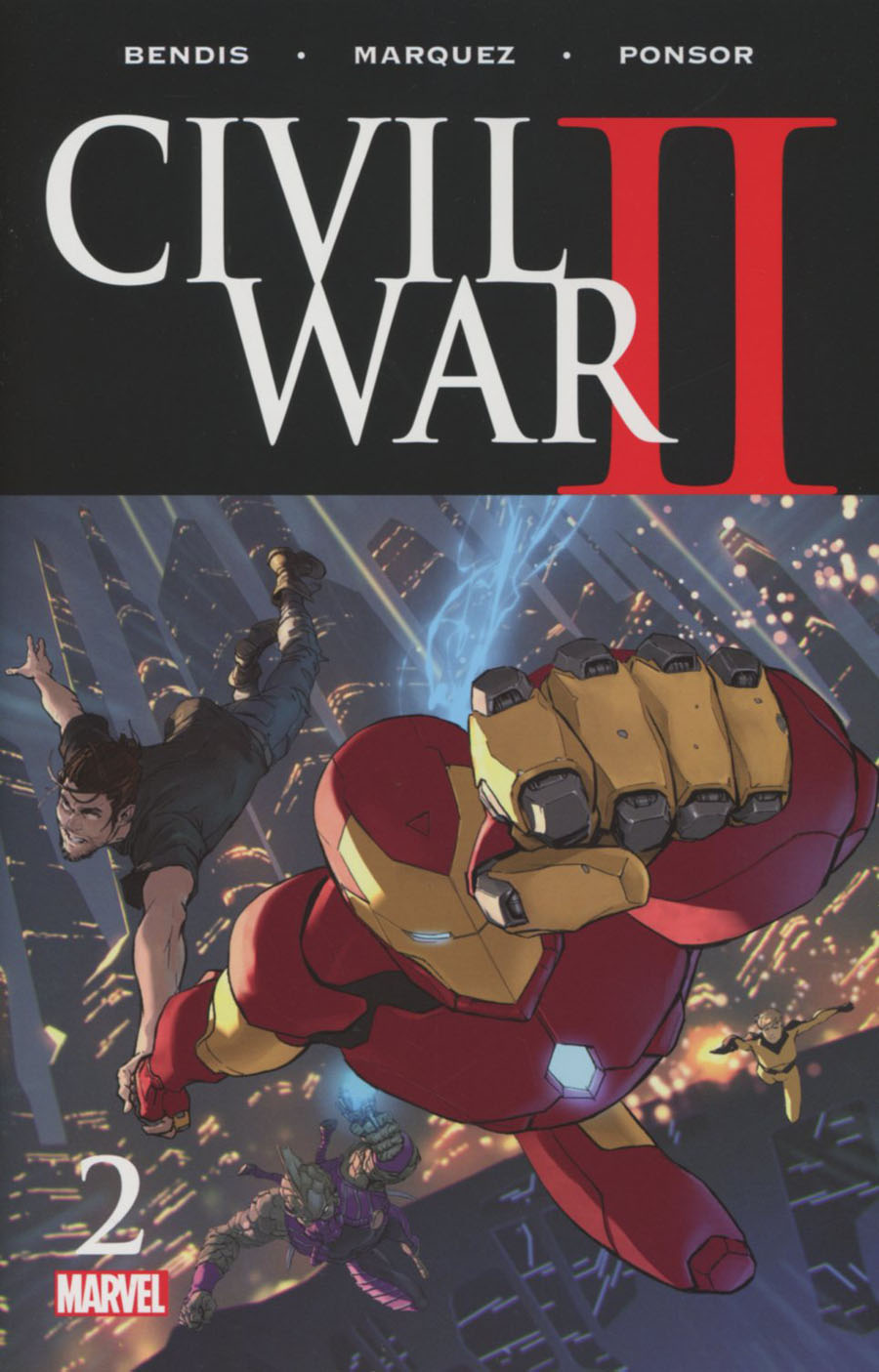 Civil War II #2 Cover A 1st Ptg Regular Marko Djurdjevic Cover