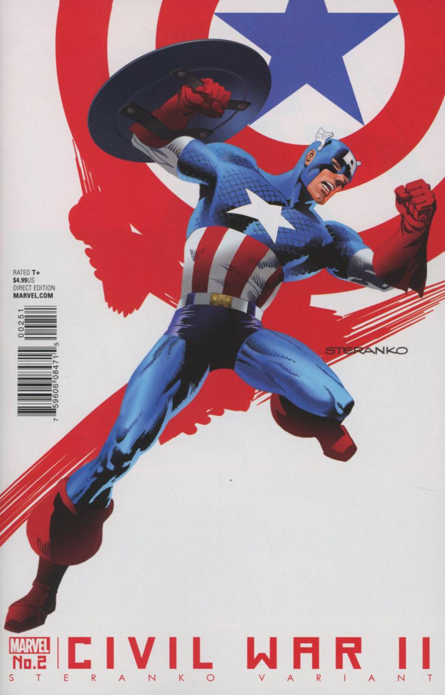 Civil War II #2 Cover D Variant Jim Steranko Cover