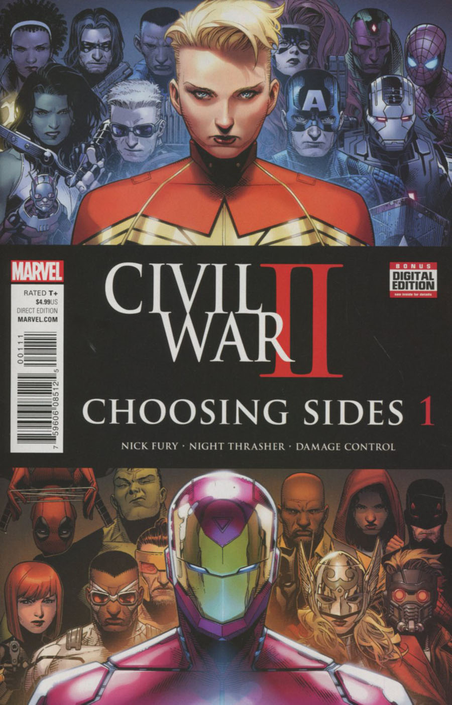 Civil War II Choosing Sides #1 Cover A Regular Jim Cheung Cover