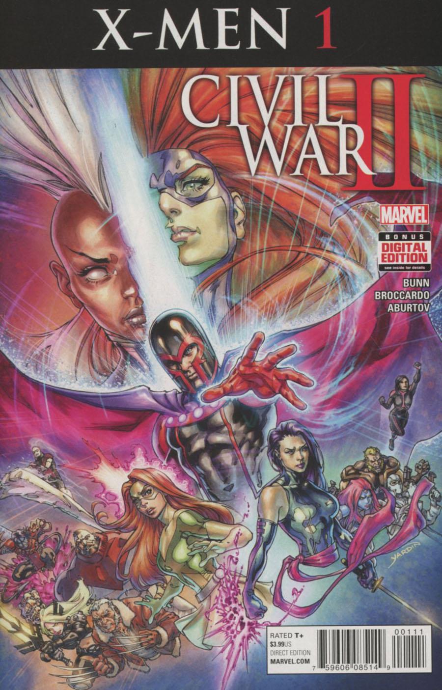 Civil War II X-Men #1 Cover A Regular David Yardin Cover