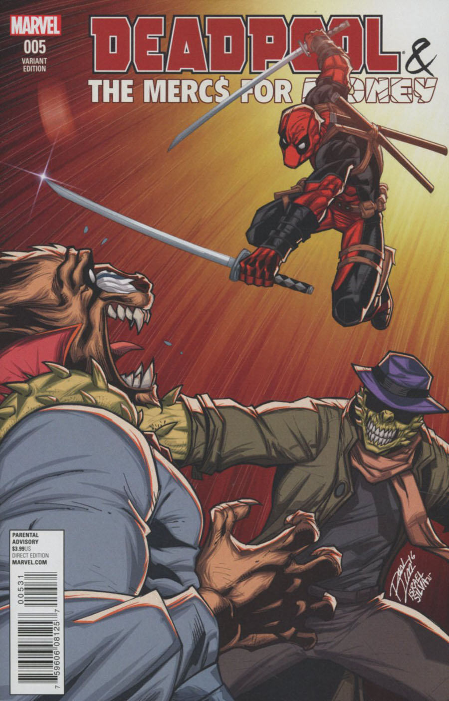 Deadpool And The Mercs For Money #5 Cover B Variant Ron Lim Cover