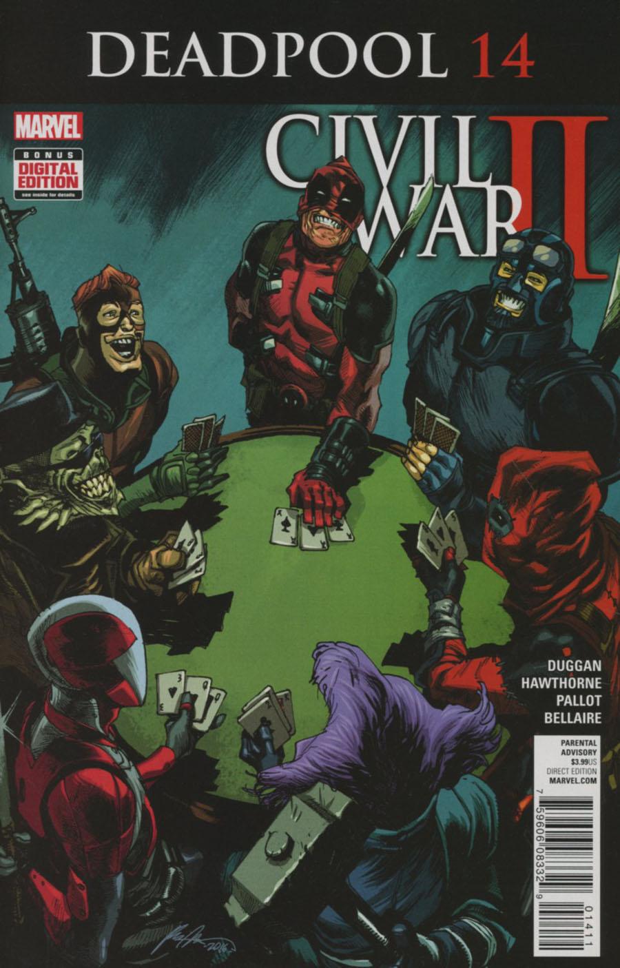 Deadpool Vol 5 #14 Cover A Regular Rafael Albuquerque Cover (Civil War II Tie-In)