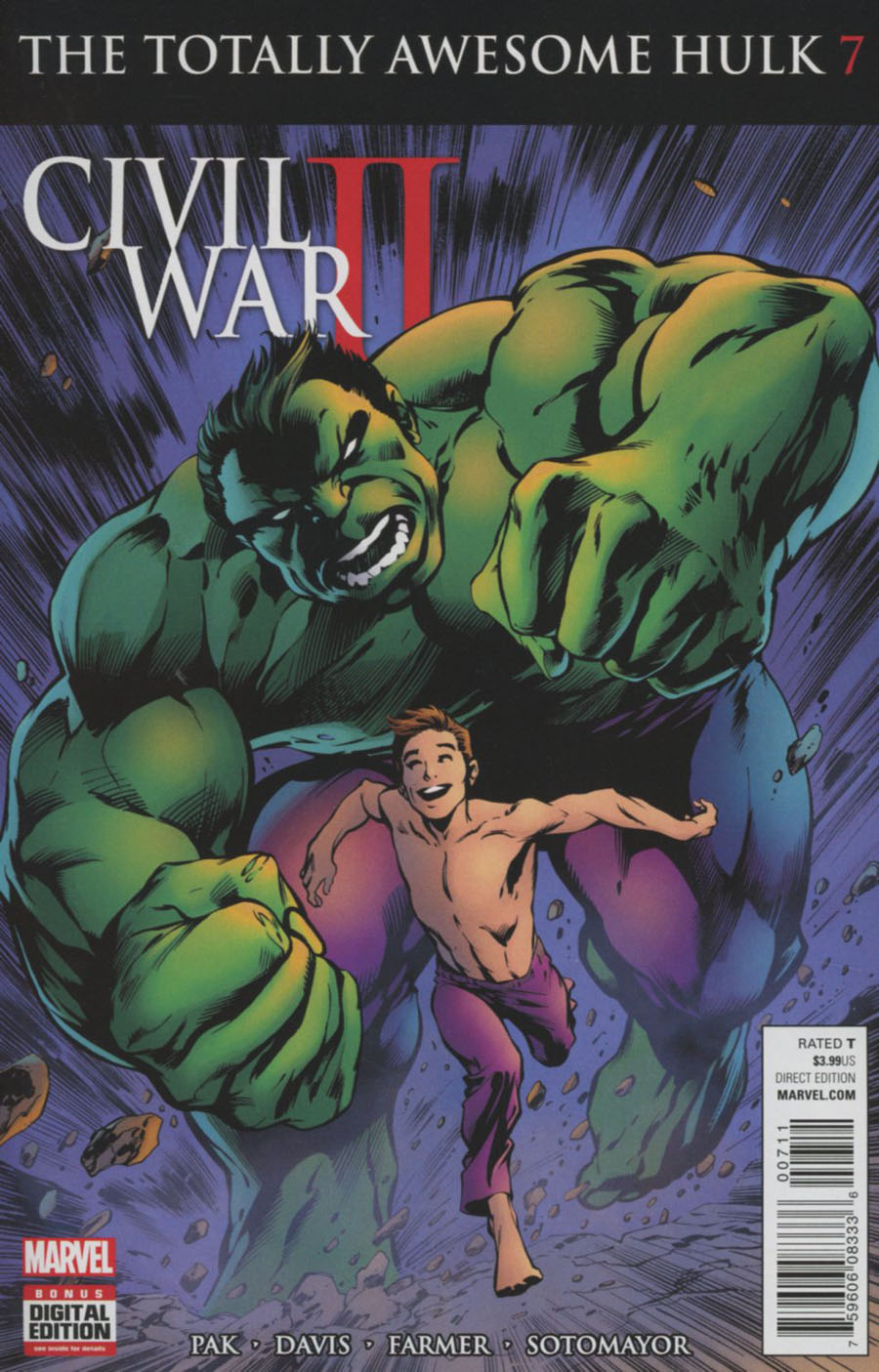 Totally Awesome Hulk #7 Cover A Regular Alan Davis Cover (Civil War II Tie-In)