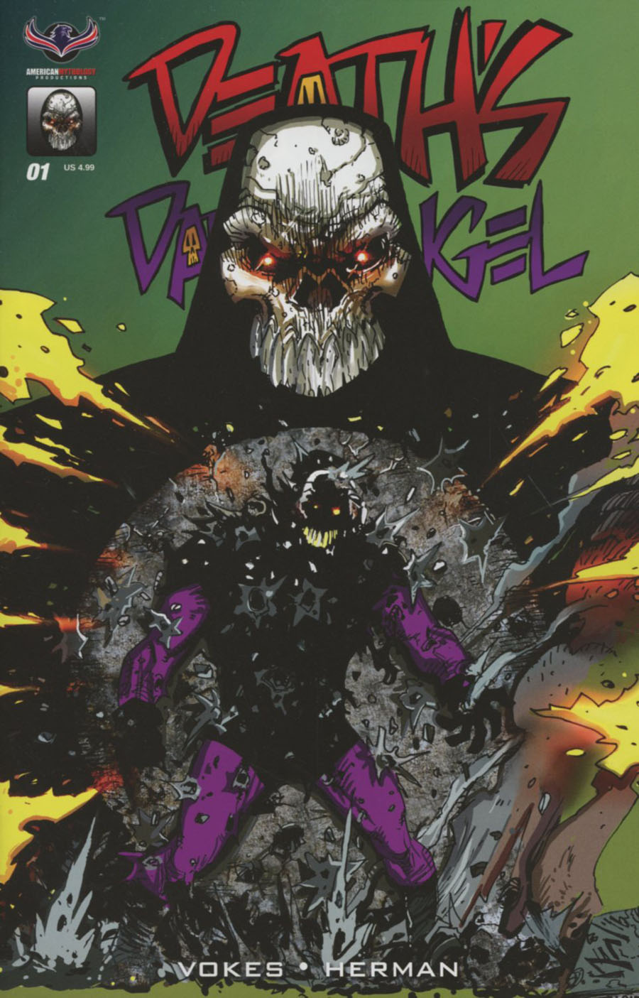 Deaths Dark Angel One Shot Cover A Regular Neil Vokes Cover