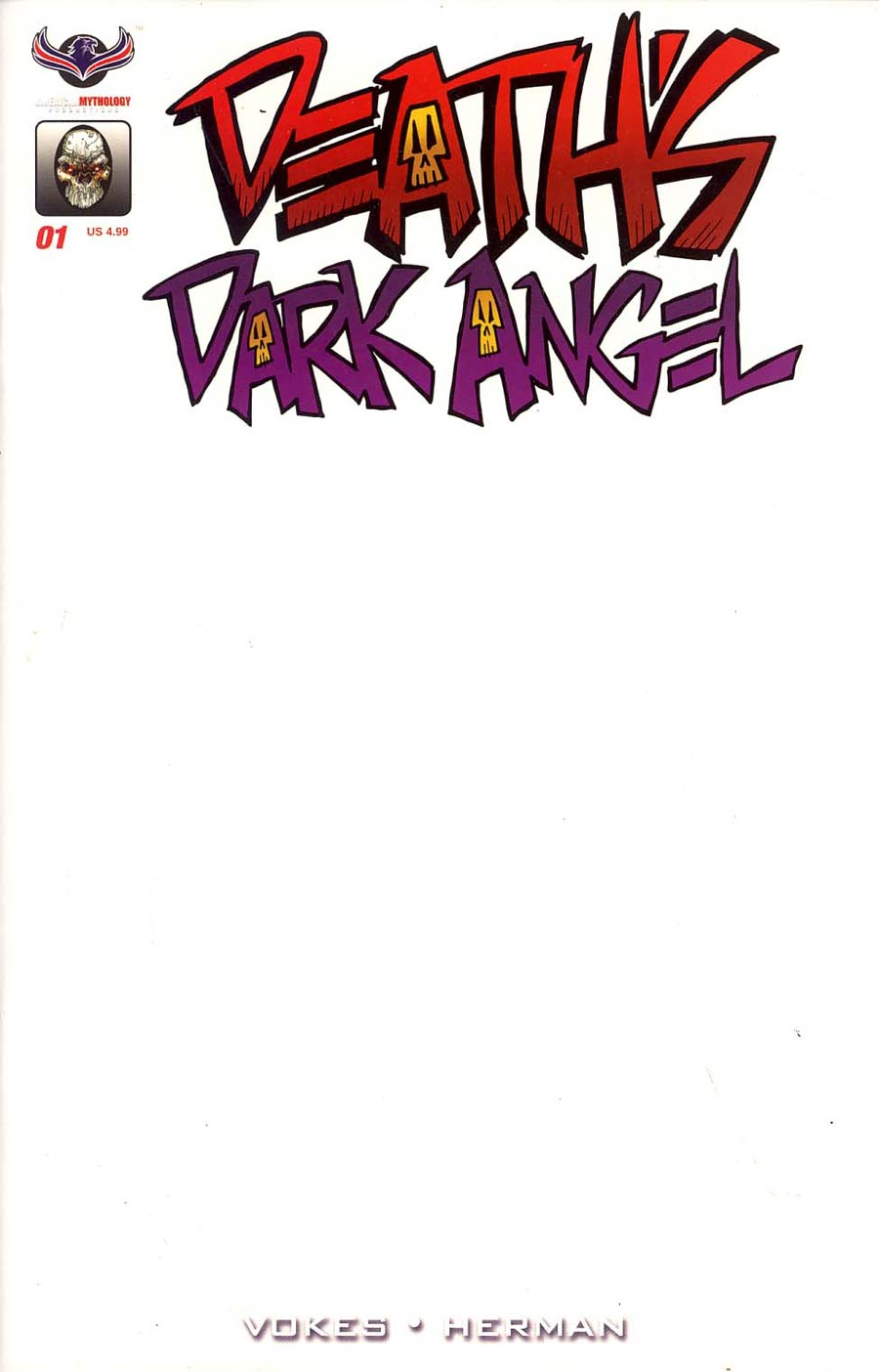 Deaths Dark Angel One Shot Cover C Variant Blank Cover