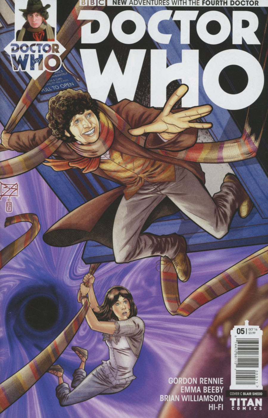 Doctor Who 4th Doctor #5 Cover C Variant Blair Shedd Cover
