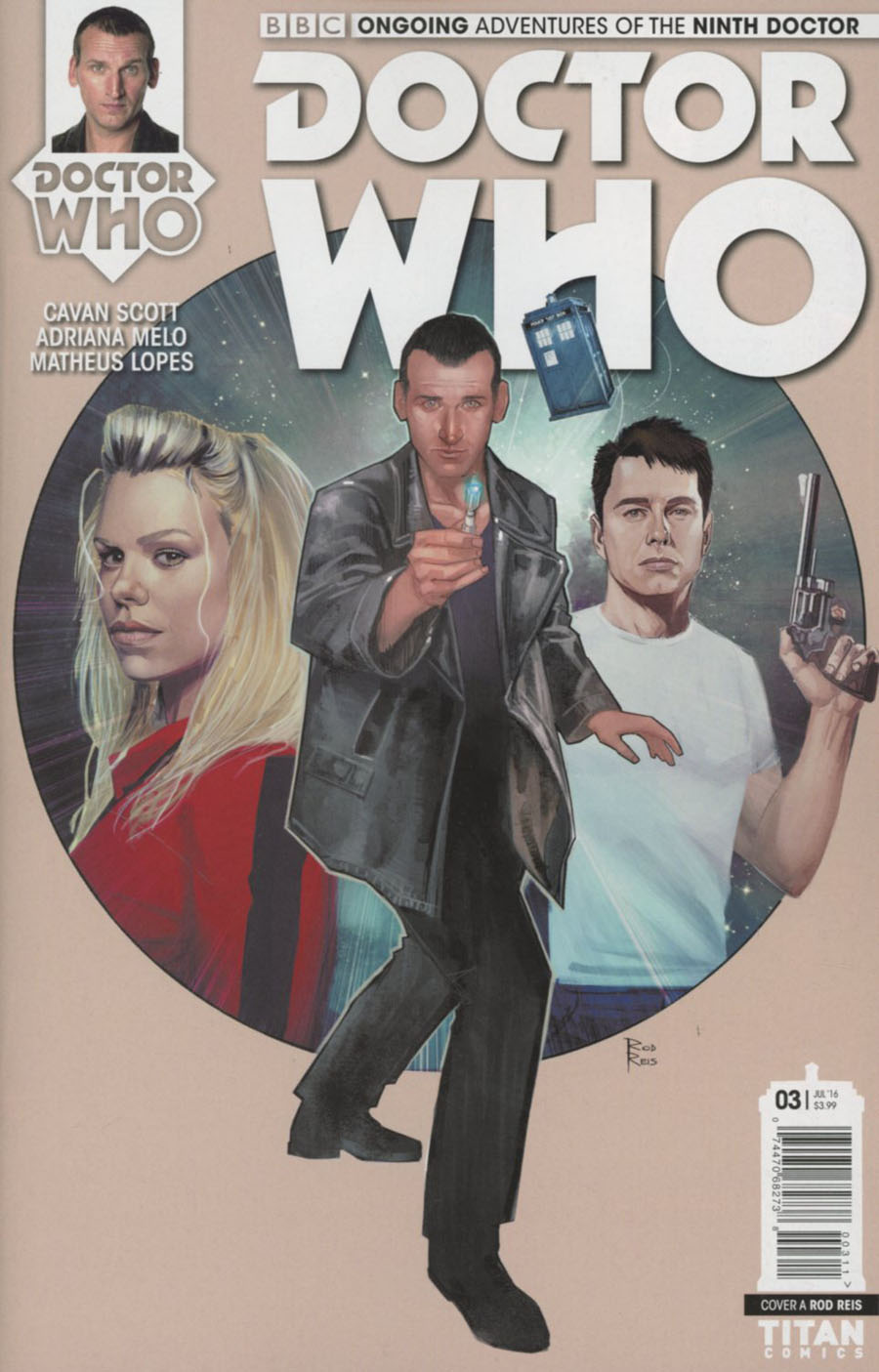 Doctor Who 9th Doctor Vol 2 #3 Cover A Regular Rod Reis Cover