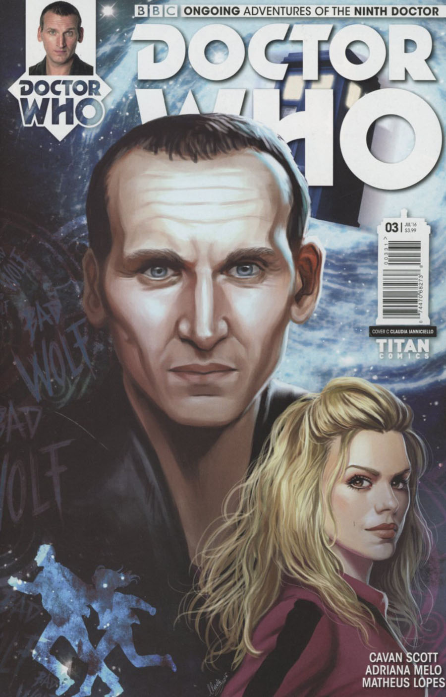 Doctor Who 9th Doctor Vol 2 #3 Cover C Variant Claudia Ianniciello Cover