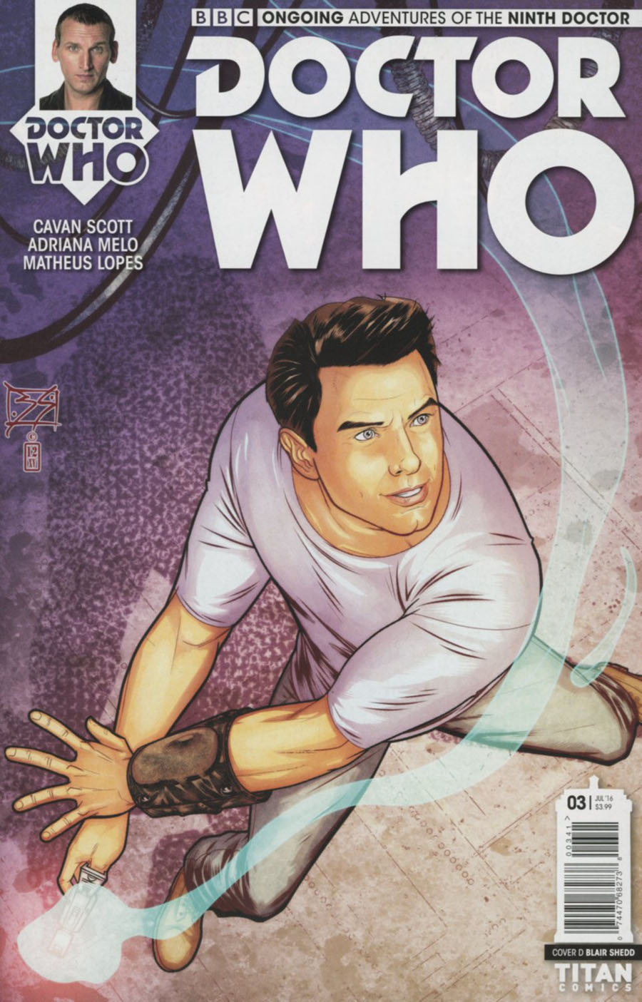 Doctor Who 9th Doctor Vol 2 #3 Cover D Variant Blair Shedd Cover