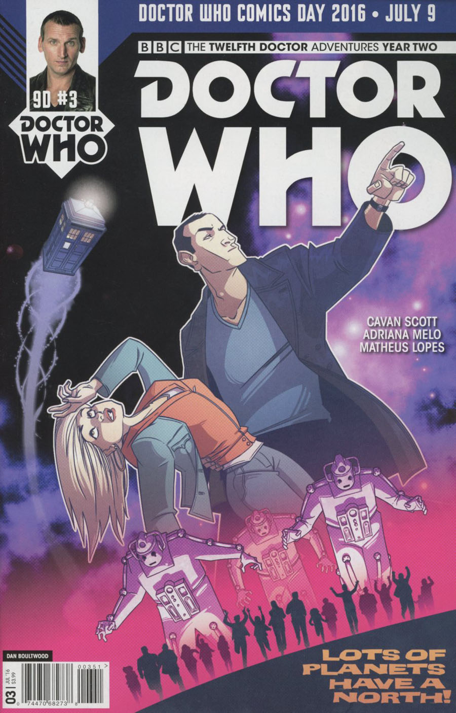Doctor Who 9th Doctor Vol 2 #3 Cover E Variant Dan Boultwood Doctor Who Comics Day 2016 Cover