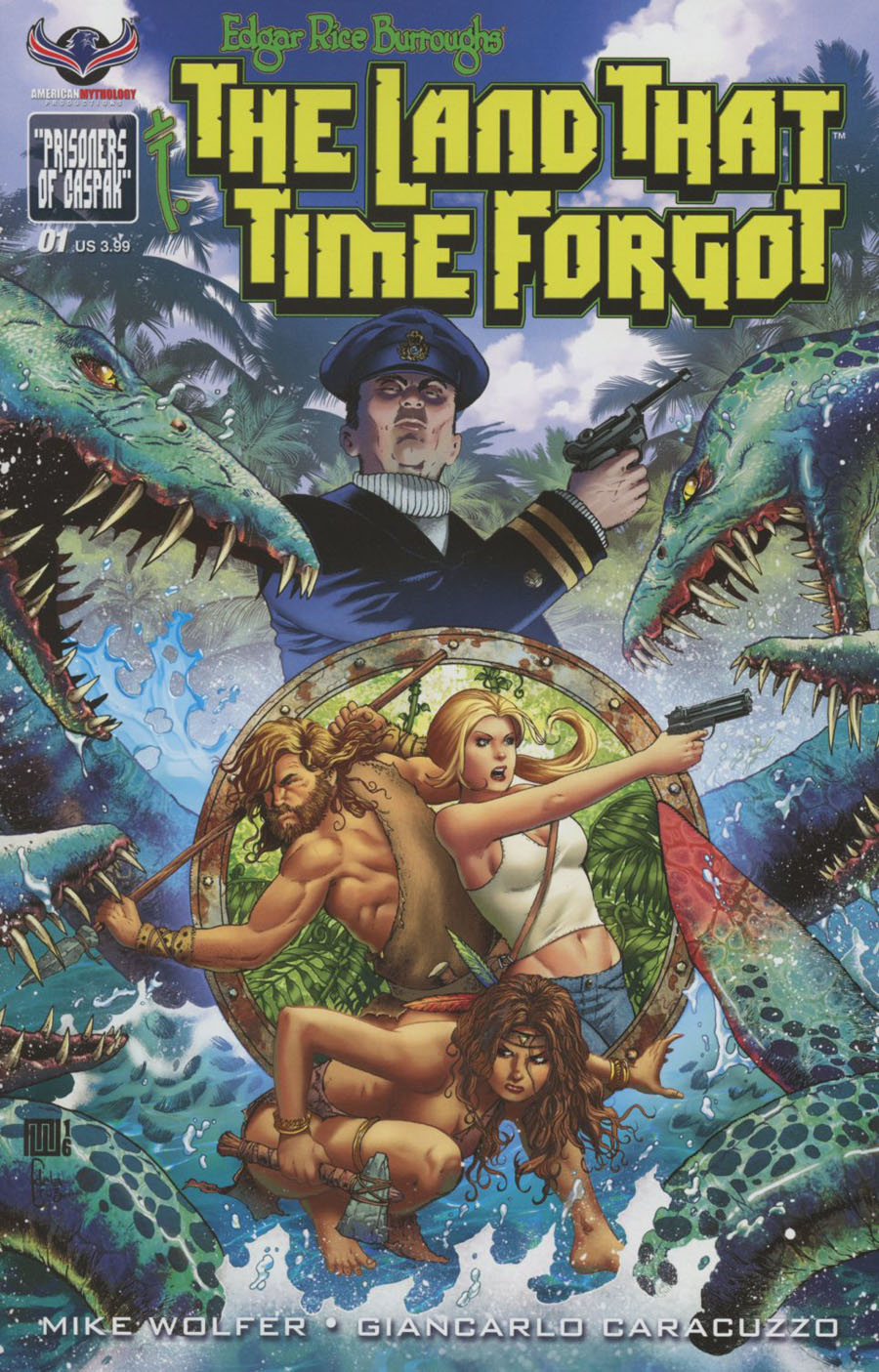 Edgar Rice Burroughs Land That Time Forgot #1 Cover A Regular Mike Wolfer Cover