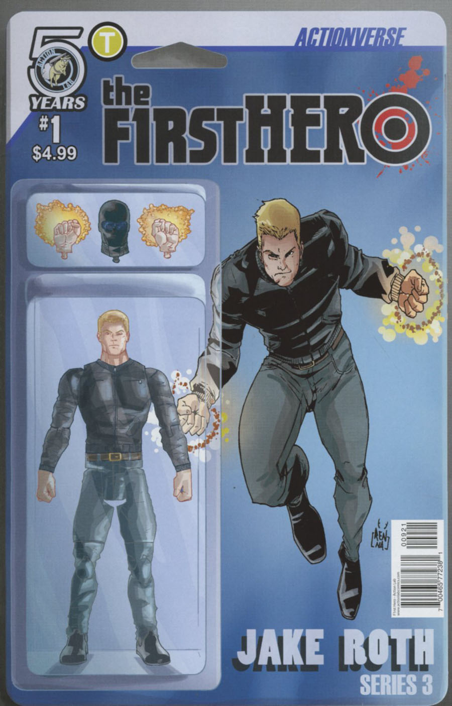 F1rst Hero Wednesdays Child #1 Cover B Variant Marco Renna & Anthony Ruttgaizer Actionverse Figure Cover