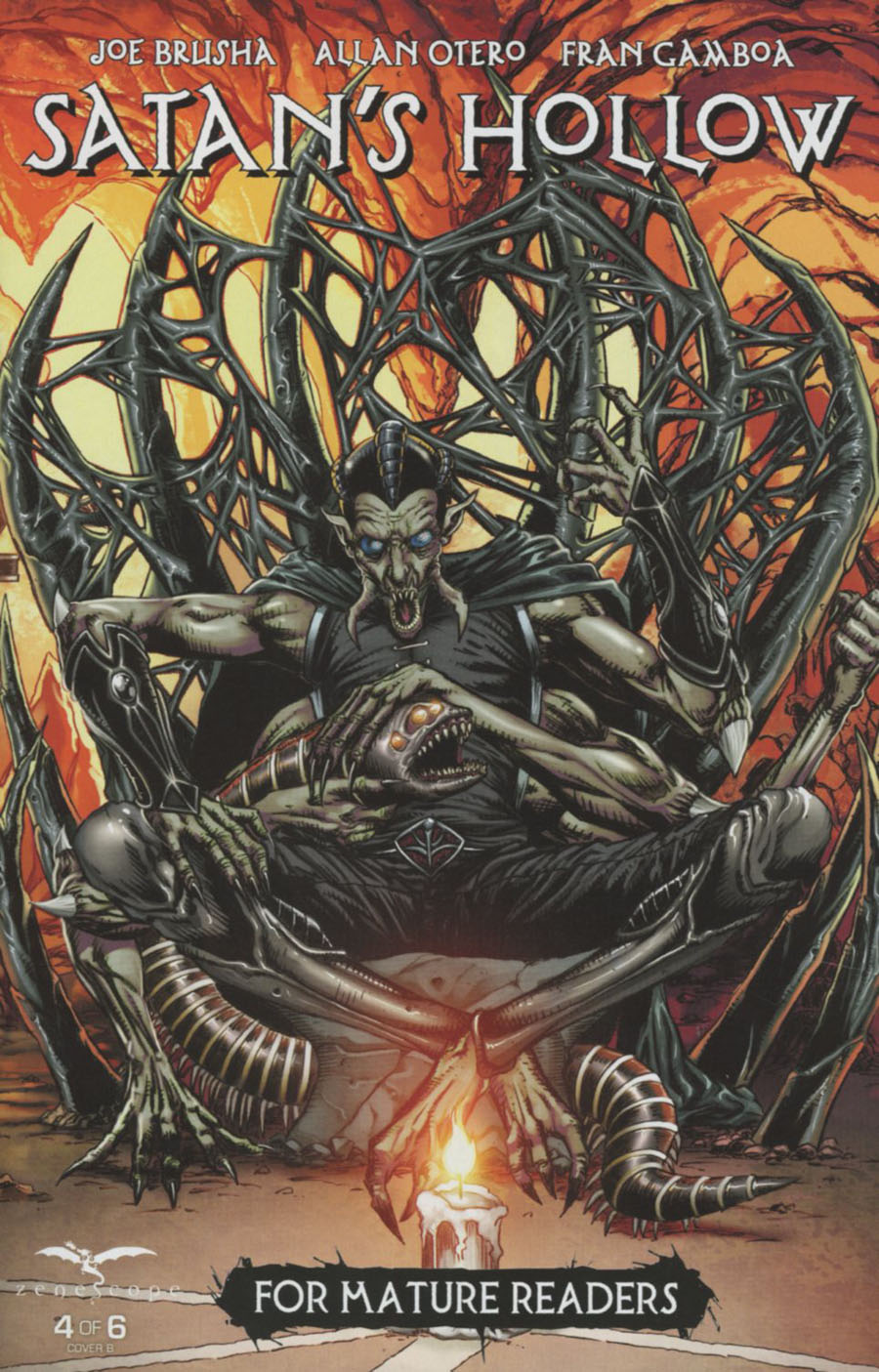 Grimm Fairy Tales Presents Satans Hollow #4 Cover B Anthony Spay Connecting