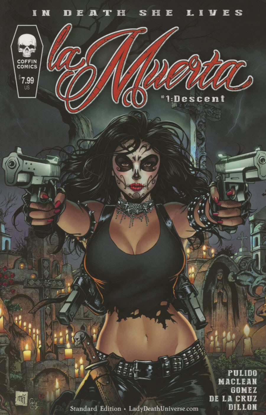 La Muerta Descent #1 Cover A Regular Mike Krome Cover
