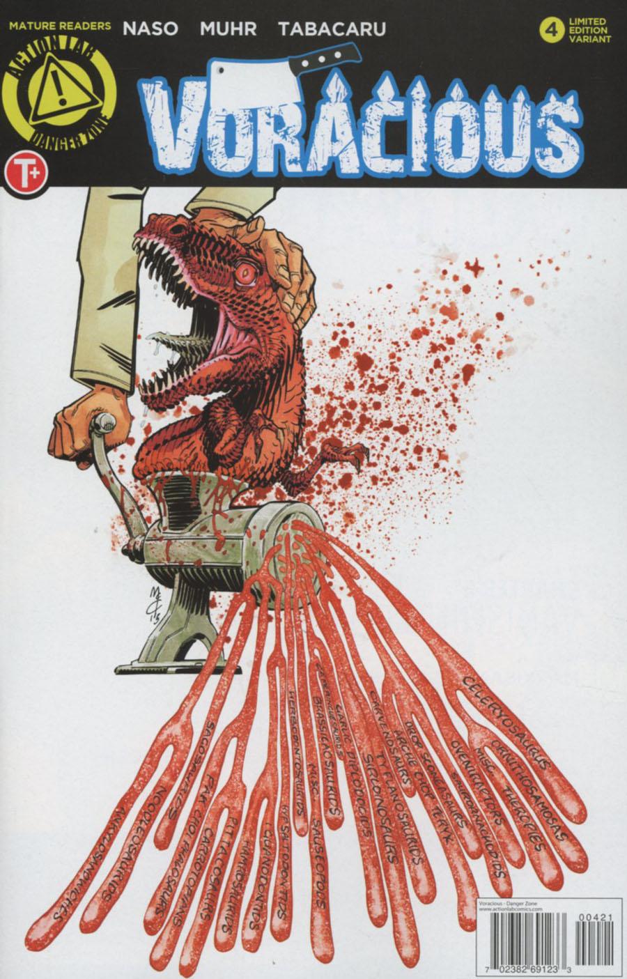 Voracious #4 Cover B Variant John McCrea Meat Grinder Cover